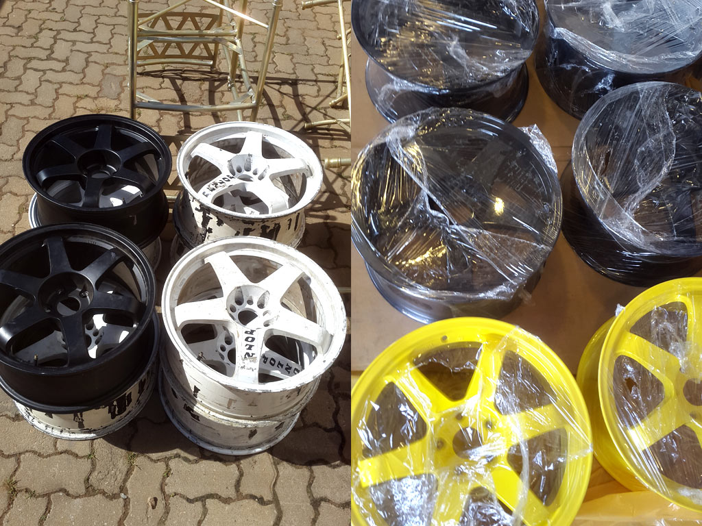 Powder Coated Racecar Wheels