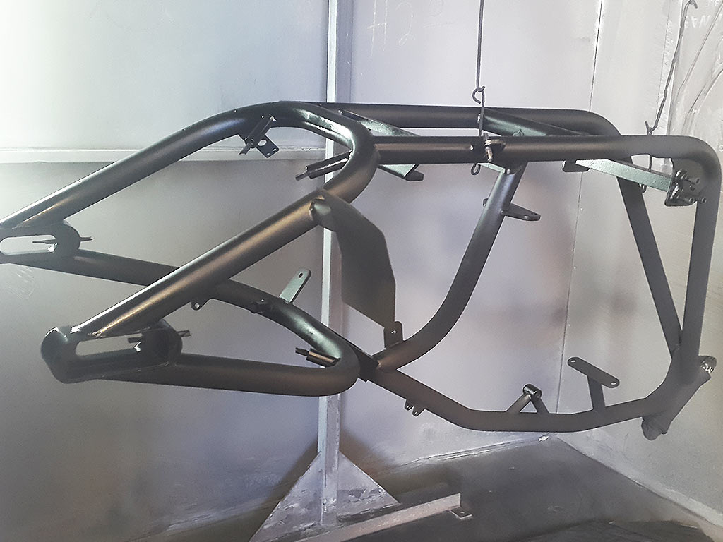 Powder Coating Motorcycle Frames